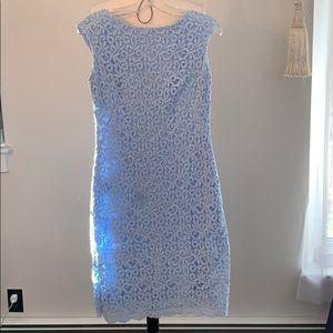 POWDER BLUE Ralph Lauren lace dress - size 4 -